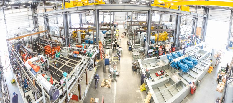 Compression fabrication and packaging facility