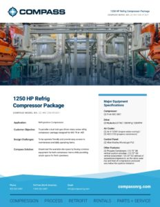 1250 HP Refrig Compressor Package