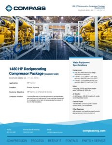 1480 HP Reciprocating Compressor Package (Custom Unit)
