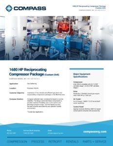1680 HP Reciprocating Compressor Package (Custom Unit)