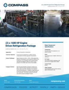 (2) x 1680 HP Engine Driven Refrigeration Package