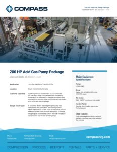 200 HP Acid Gas Pump Package