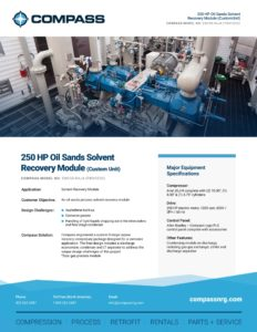250 HP Oil Sands Solvent Recovery Module (Custom Unit)