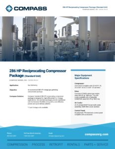 286 HP Reciprocating Compressor Package (Standard Unit)
