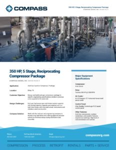 350 HP, 5 Stage, Reciprocating Compressor Package