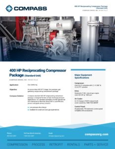 400 HP Reciprocating Compressor Package (Standard Unit)
