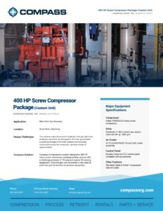 400 HP Screw Compressor Package (Custom Unit)