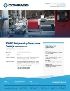 450 HP Reciprocating Compressor Package (International Unit)