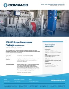 530 HP Screw Compressor Package (Standard Unit)