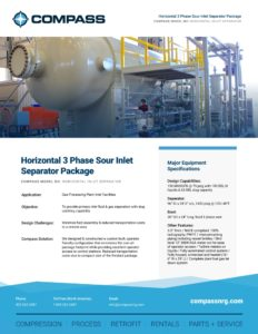 Horizontal 3 Phase Sour Inlet Separator Package