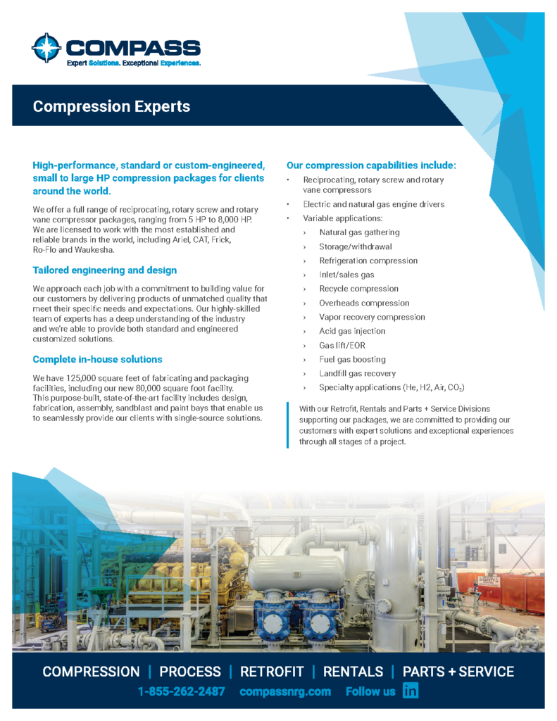 Gas Compression Equipment Experts