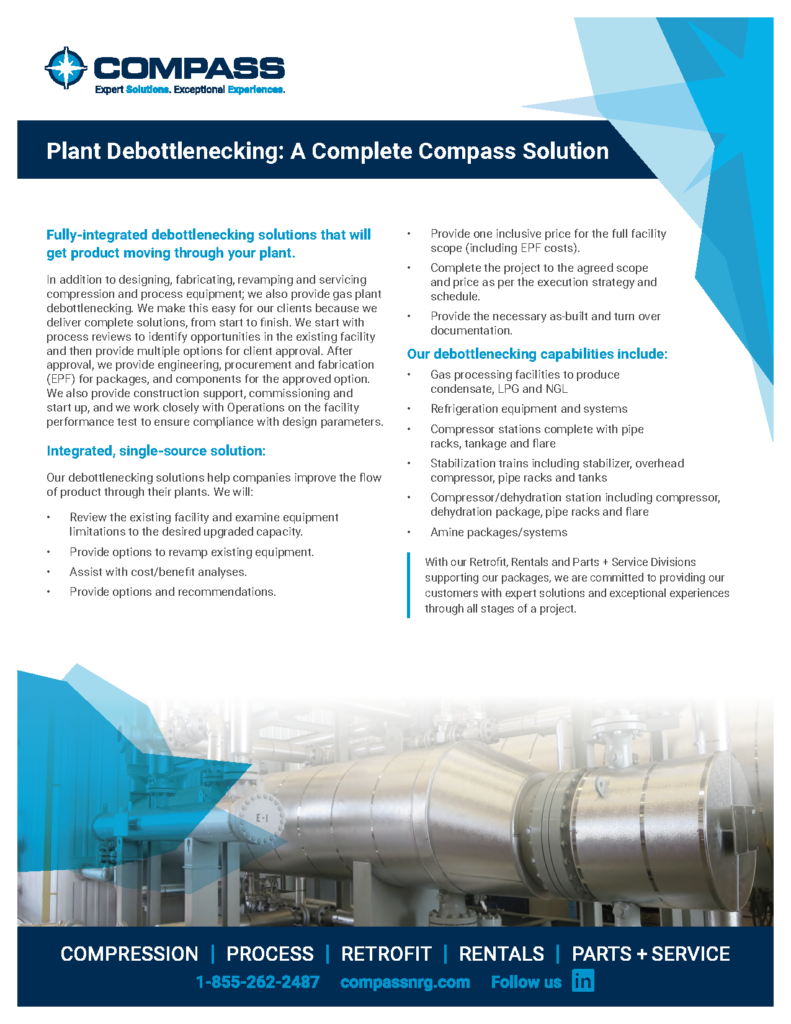 Compass Gas Plant Debottlenecking