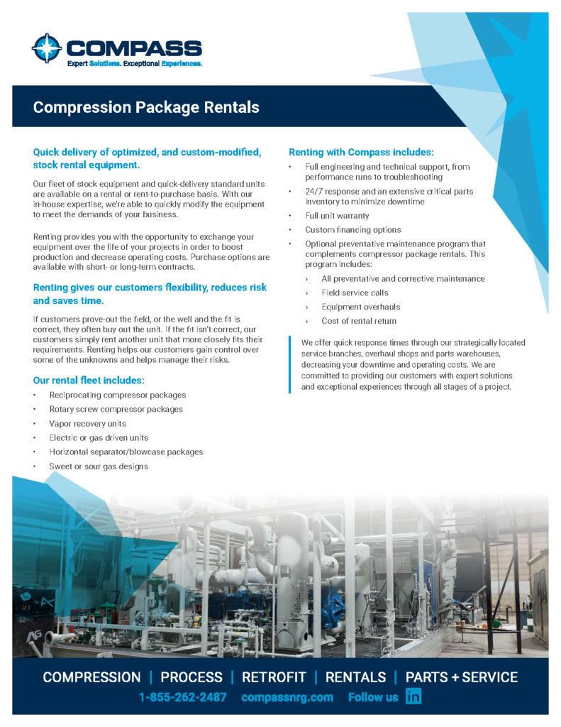 Compass Compression Package Rentals
