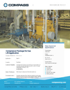 Compressor Package for Gas Lift Application 1154