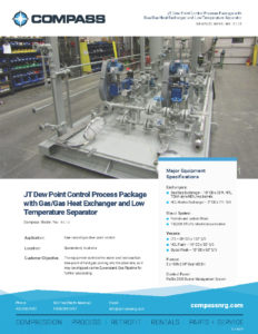 C-1184P - JT Dew Point Control Process Package