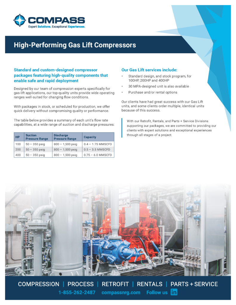 Compass High-Performing Gas Lift Compressors