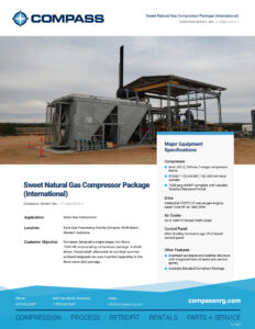 C-1229 - Sweet Natural Gas Compressor Package (International)
