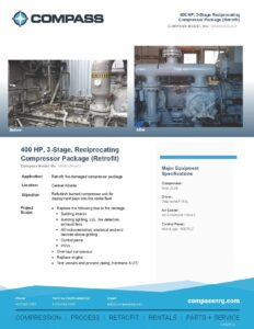C-512RF-2 Retrofit 400 HP 3 Stage Reciprocating Compressor Package Reduced file size - Photo for website