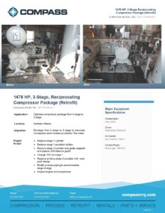 C-891RF-1 Retrofit 1478 HP 3 Stage Reciprocating Compressor Package Reduced file size - Photo for website